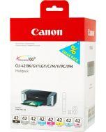Canon CLI-42 Multipack -mustepatruuna lajitelma