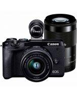 Canon EOS M6 Mark II + 15-45mm IS STM + 55-200mm IS STM -järjestelmäkamera