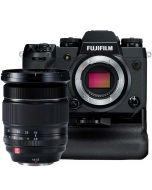 Fujifilm X-H1 + VPB-XH1 -kahva + 2 lisäakkua + XF 16-55mm f/2.8 R LM WR