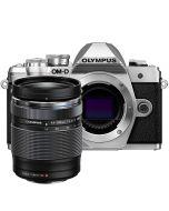 Olympus OM-D E-M10 Mark III + M.Zuiko 14-150mm f/4-5.6 ED II -järjestelmäkamera, hopea