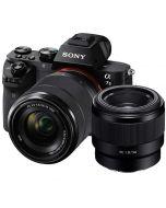 Sony A7 Mark II + FE 28-70mm f/3.5-5.6 OSS + FE 50mm f/1.8 -järjestelmäkamera